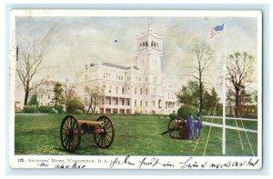 Soldiers' Home Washington D.C. Cannon Flag 1905 Hoboken Antique Vintage Postcard