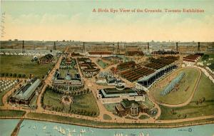 Vintage Postcard Bird's Eye View Of Toronto Exhibition Grounds Canadian National