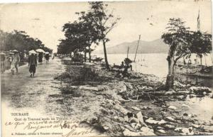 CPA Vietnam Indochine ANNAM Tourane - Quai de Tourane après un Typhon (62133)