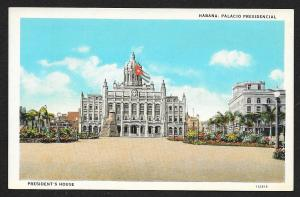 Plaza View Presidents House Havana CUBA Unused c1920s