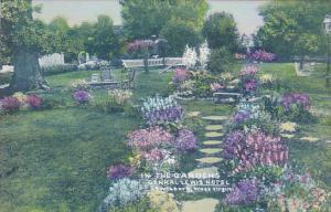 West Virginia Lewisburg The Gardens General Lewis Hotel Handcolored Albertype