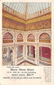 New York City~Merit Shoe Store ($3.00) Interior of Metropolitan Life Bldg c1906