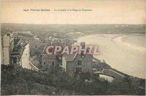 Old Postcard Perros Guirec The descent Beach Trestraou