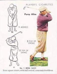 Player Vintage Cigarette Card Golf 1939 No 2 No 1 Iron Shot Percy Alliss