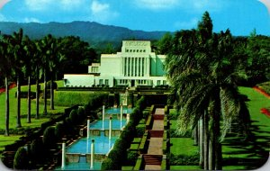 Hawaii Oahu Laie The Mormon Temple