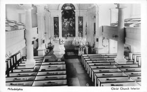 Philadelphia Pennsylvania~Christ Church Interior~Chandelier~Ionic Columns~RPPC