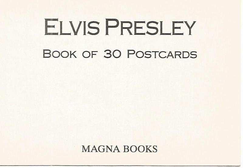 Postal 52756: ELVIS PRESLEY - Portada coleccion Magna Books