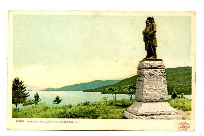 NY - Lake George. Battle Monument