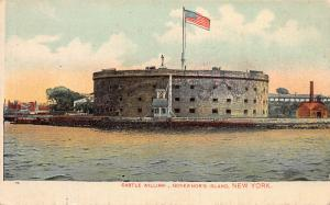Castle William, Governor's Island, New York, N.Y., Early Postcard, Used
