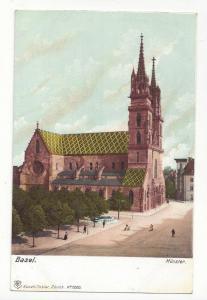 Switzerland Basel Munster Minster Cathedral Church Postcard