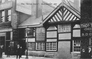 Manchester The Seven Stars The Oldest Licensed House in Britain Postcard