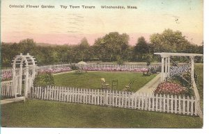 Winchendon, MA - Toy Town Tavern, Colonial Flower Garden - 1936