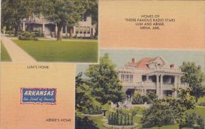 Arkansas Mena Homes Of Those Famous Radio Stars Lum And Abner