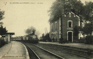 france, BRUERE-ALLICHAMPS, La Gare, Railway Station (1910s) Postcard