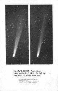 Haley's Comet photographs Taken 1910 Space Unused