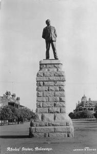 Zimbabwe Rhodesia, Bulawayo, Rhodes' Statue, Monument real photo