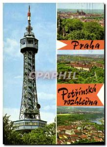 Postcard Modern Praha Pet? Nsk rozhledna