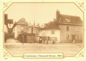 Reproduction Vintage 1904 Postcard, Colchester, Vineyard Street 81T