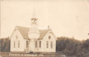 A71/ East Waterboro Maine Me RPPC Real Photo Postcard 1915 Church Building