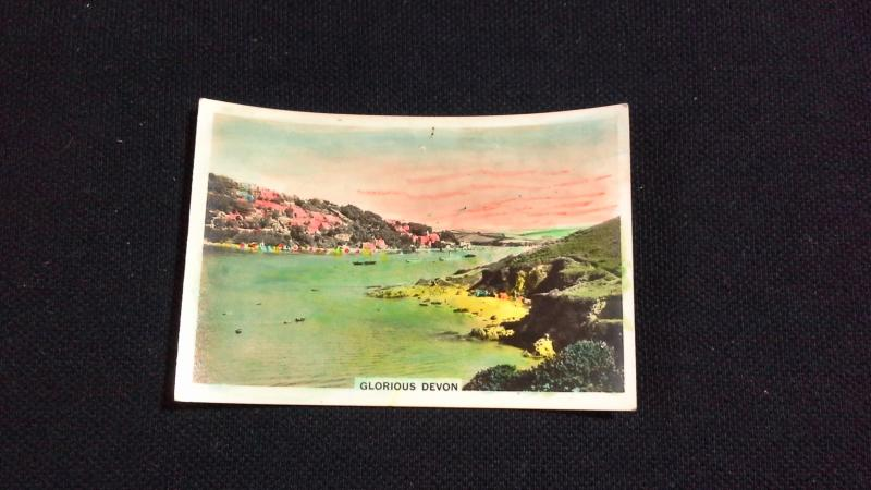 Senior Service Cigarette Card No 39 Coastwise Glorious Devon