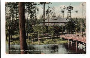 MONROE, New Hampshire, PU-1912; Pine Island Park, Pavilion And Bridge