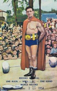 Strongman Victor Delamarre , Quebec, 1986