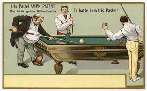 Iris Pastel Ampn Patent Pool Billiards Game Postcard