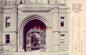 pre-1907 THE PHELPS GATE, YALE UNIVERSITY. NEW HAVEN, CT 1906