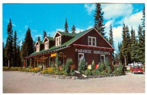Exterior,  Paradise Lodge & Bungalows,  Lake Louise,  Alberta,  Canada,  40-60s