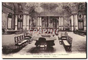 Old Postcard Monte Carlo Room Games Roulette