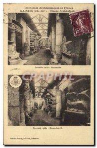 Old Postcard Saintes Archaeological Museum