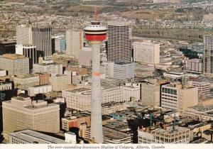 Canada Calgary Downtown Skyline View
