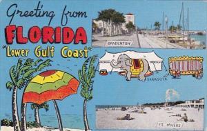 Greetings From Florida Lower Gulf Coast 1951