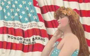 Girl & Flag HONOR THE BRAVE 1861-1865 , 1910