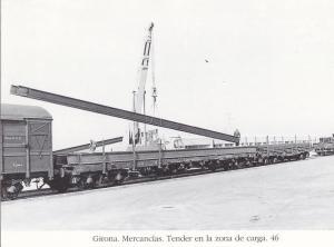 Postal 62188 : Girona. Mercancias. Tender en la zona de carga