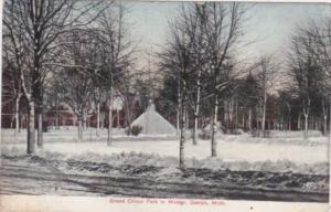 Michigan Detroit Grand Circus Park In Winter 1909