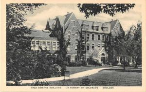 Boulder Colorado University Hale Science Building Antique Postcard J51317