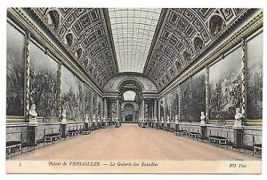 France Versailles Palace Galerie des Batailles Gallery of Battles ND Postcard