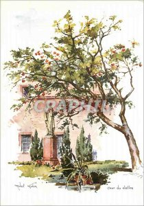Modern Postcard Mont Sainte Odile Watercolor Cloitre the Court of Strasbourg ...