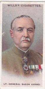 Wills Cigarette Card Allied Army Leaders No 33 Lt Gen Baron Kanwe