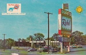 Virginia Wichester Duff's Quality Court Resort Motel and Rebel Restaurant