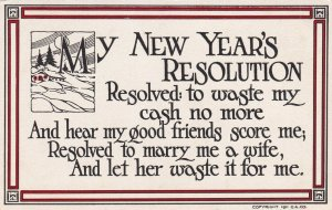 NEW YEAR'S Resolution, 1900-1910s