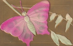 Embossed pink Butterfly, 1900-10s