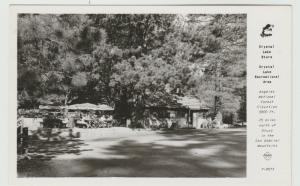 CA Angeles National Forest, CRYSTAL LAKE STORE RPPC Postcard