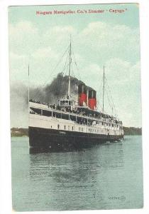 Steamer/Ship, Niagara Navigation Co.'s Steamer Cayuga, Closer View, 1900-1910s