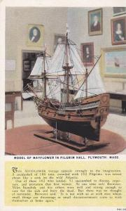 Model of Mayflower in Pilgrim Hall, Plymouth, Massachusetts, 10-20s