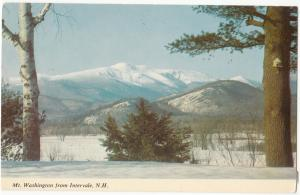 Mt. Washington from Intervale, N.H., unused Postcard