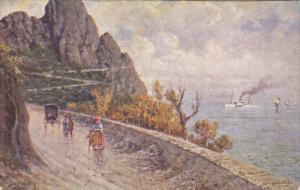 CAPRI, Italy, PU-1928; Strada Verso Anacapri