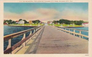 Florida Panama City Municipal Pier Looking Toward City Park