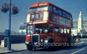 Olde English Double Decker, UK Bus Buses, Old Vintage Antique Post Card Postc...